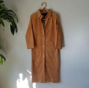 Vintage Suede Long Jacket